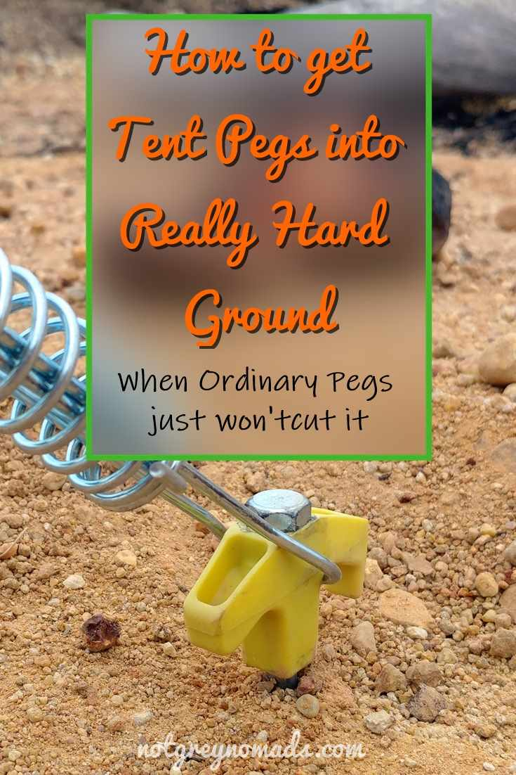 Screw in tent pegs for hard ground & How to use Screw in Tent Pegs in hard ground (VIDEO) - notgreynomads.com